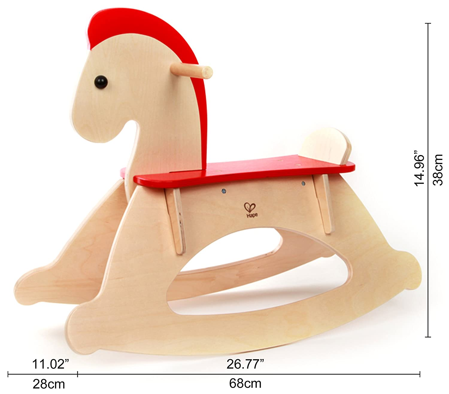 Hape Rock and Ride Kids Wooden Rocking Horse