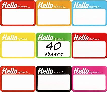 320 Piezas Etiquetas Adhesivas de Nombre Personalizadas Pegatinas de Hello My Name is para Reunión de Oficina Escuela Profesores y Envío: Amazon.es: Oficina y papelería