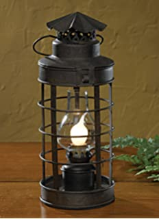 Bright galvanized champion electric lantern table lamp railroad park designs coach lantern lamp aloadofball Images