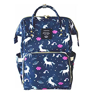 Amazon.com : Pawaca Large Capacity Diaper Bag Anti Theft Mummy Diaper Backpack Unicorn Pattern Multi Function Bag Baby Bottle Maternity Waterproof Nappy ...