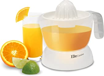 Elite Cuisine ETS-401 Citrus Juicer Manual Hand Squeeze Easy Pouring Spout, 16 oz
