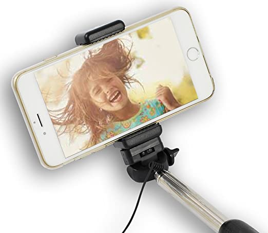 Selfie Sticks 2 Pack, Colors Vary 29 in Expandable Snap A Pic Stick Monopod Compatible Most Smartphones