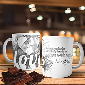 fa5fa0a3900 Buy Printpops: A Beautiful Personalized Mug with Sketch Drawing ...