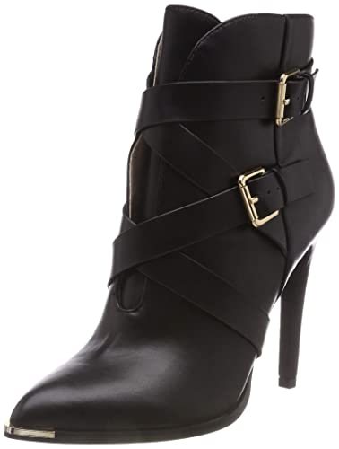 Buffalo Damen French Vanilla Leather PU Stiefeletten, Schwarz (Black 01  00), 36 a82e814096