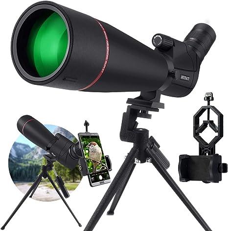 KEXWAXX Telescopio Terrestre Potente 20-60x80mm Zoom Impermeable FMC BAK4 Prisma Telescopio Astronomico Profesional Monocular con Trípode y Adaptador de Smartphone: Amazon.es: Electrónica