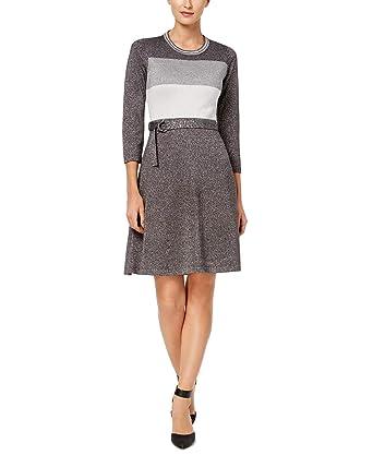 fa5557ac63e Calvin Klein Womens Metallic Special Occasion Sweaterdress at Amazon  Women s Clothing store