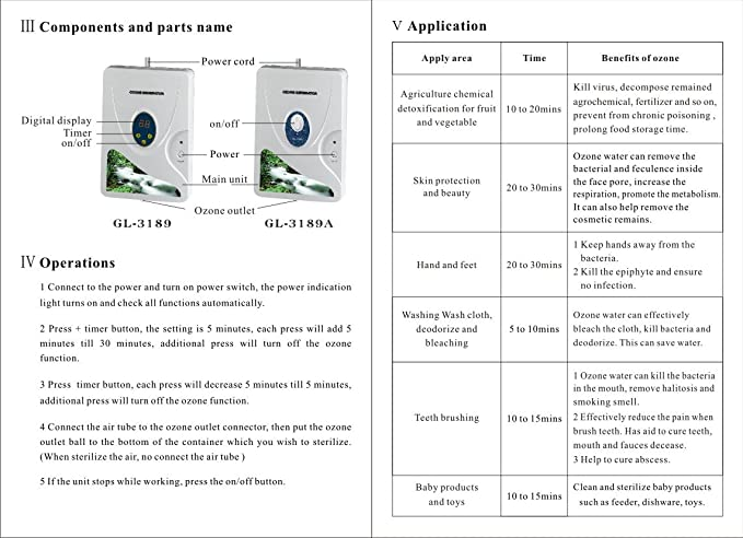 Agua Ozono y purificador de aire | Limpiador Esterilizador ...