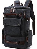 Yousu Canvas Backpack Fashion Travel Backpack School Rucksack Hiking Daypack