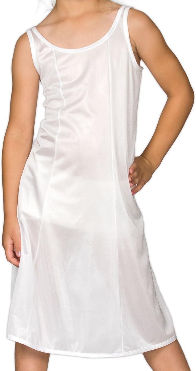 I.C Collections Little Girls White Sleek Nylon Slip 4-6x