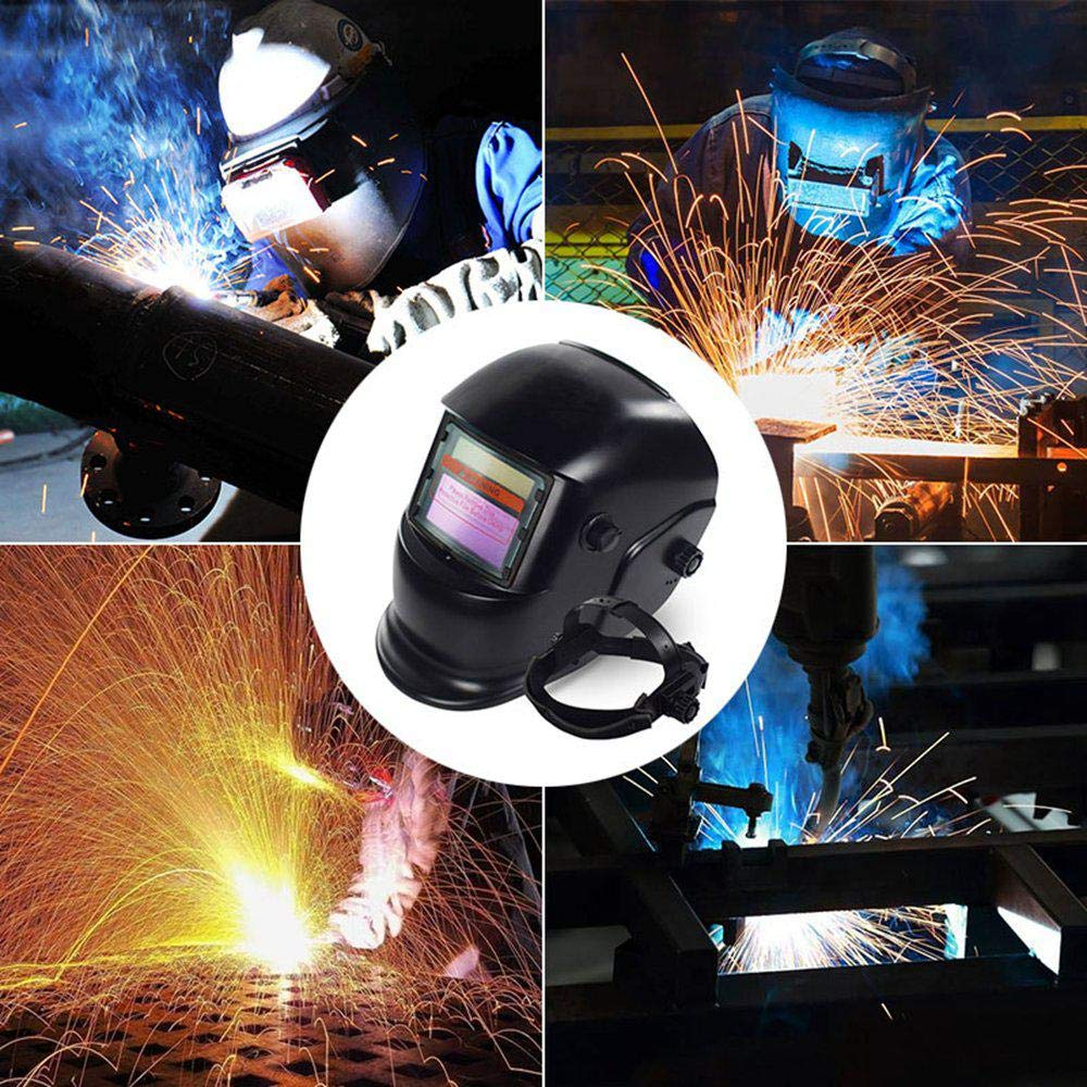 Adjustable Sensitivity Welding Mask UV//IR Protection for Mig Tig Arc Welder Mask #2 KOBWA Welding Helmet Solar Auto DarkeningAdjustable Shade Range 4//9-13