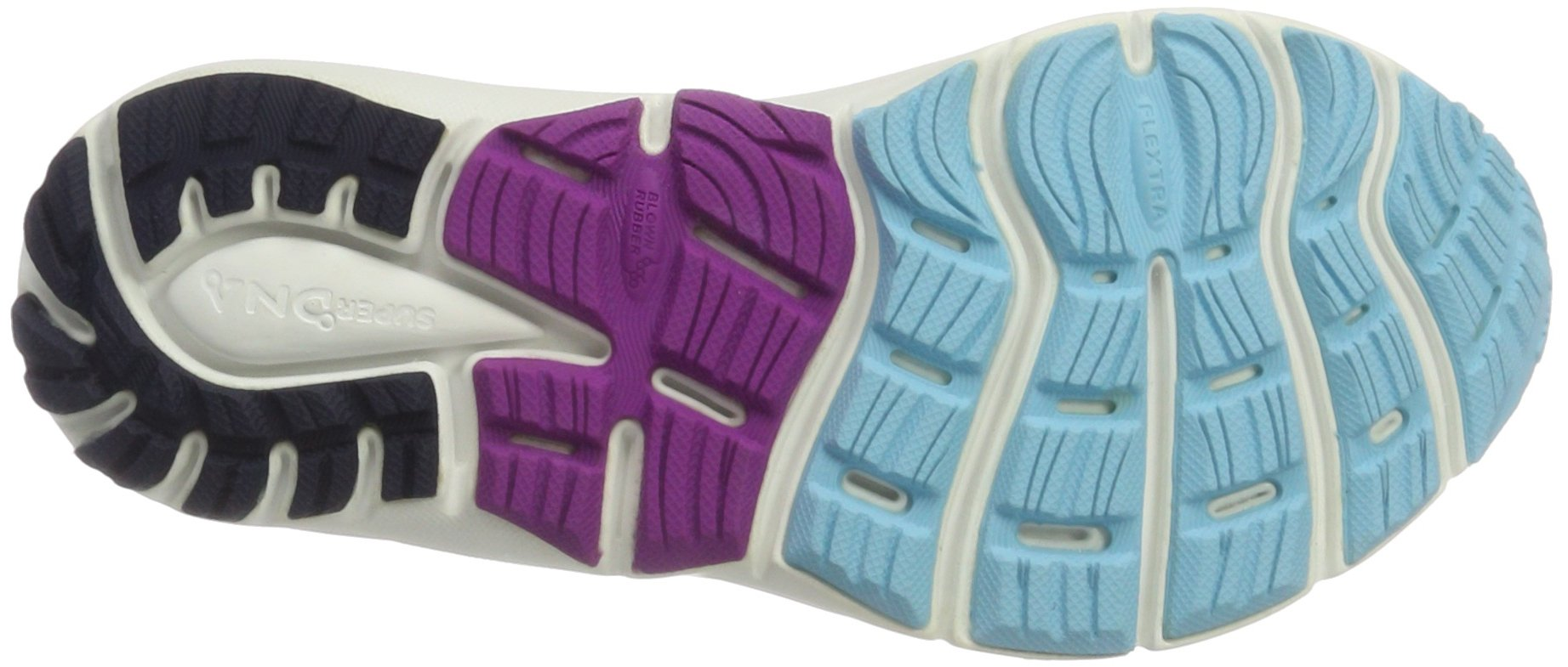Brooks Women's Transcend 4 Bluefish/Peacoat/Purple Cactus Flower 6.5 B US by Brooks (Image #3)