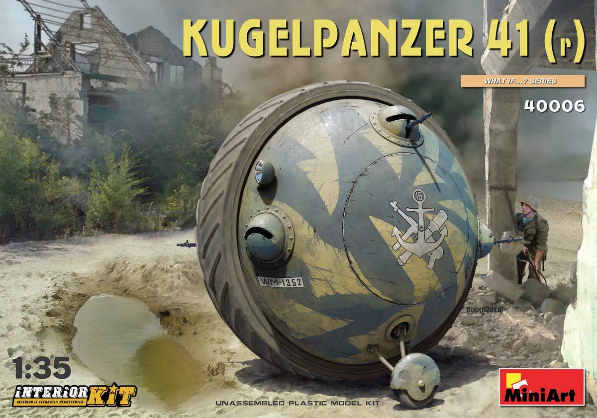MINIART 40006 Kugelpanzer 41(r) Interior KIT 1/35 Scale Plastic Model KIT