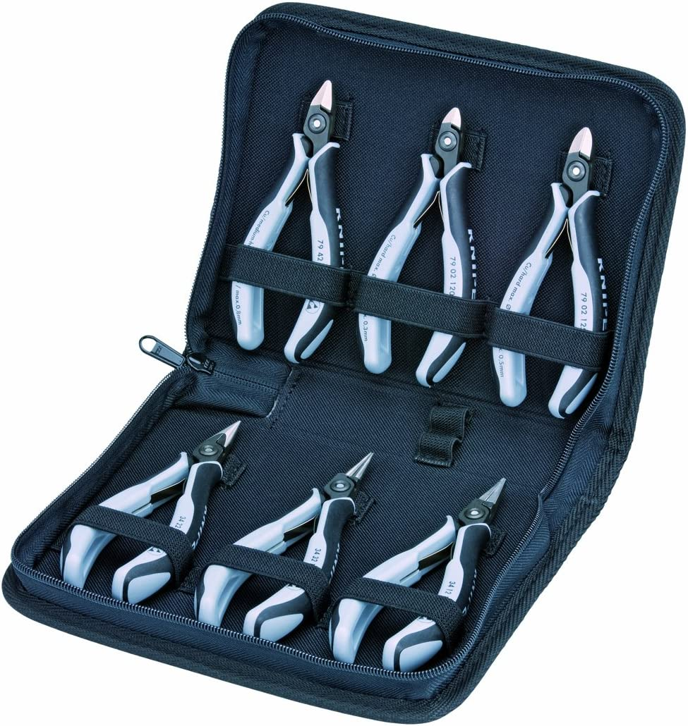 KNIPEX Tools - 6 Piece ESD Max 60% OFF 002016PESD in Zipper Set Pouch Tool specialty shop