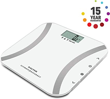 White 9073 WH3R Salter Ultimate Accuracy Digital Bathroom Scales