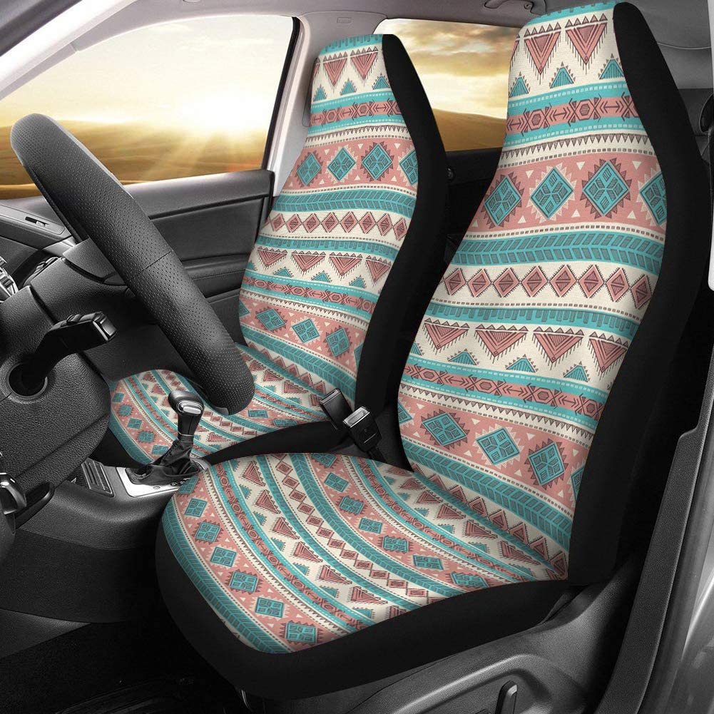 Dreaweet Horse Printed Car Seat Covers Front Seats Only Full Set of 2pc Split Back Seat Protector Cover Universal Anti-Slip Driver Seat Cover for Cars,Trucks and SUVs