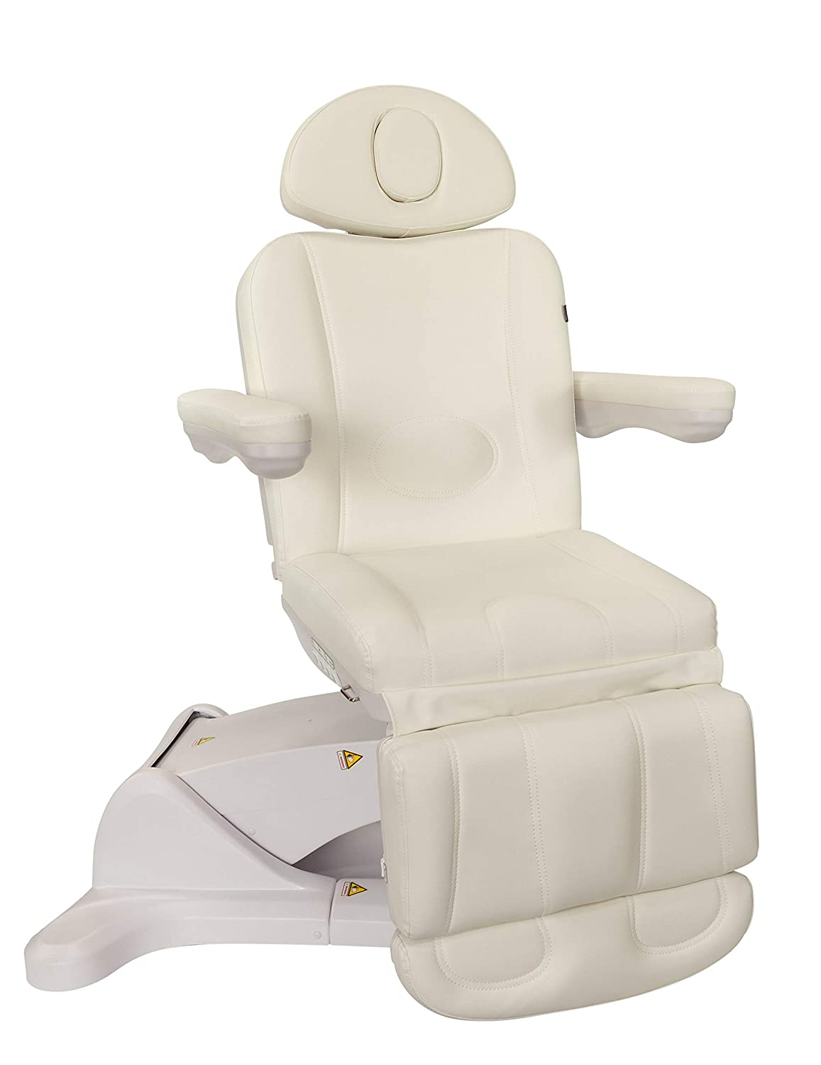 Medical Spa Facial Bed Exam Dermatology and Procedure Chair w Rotation – All Electric White