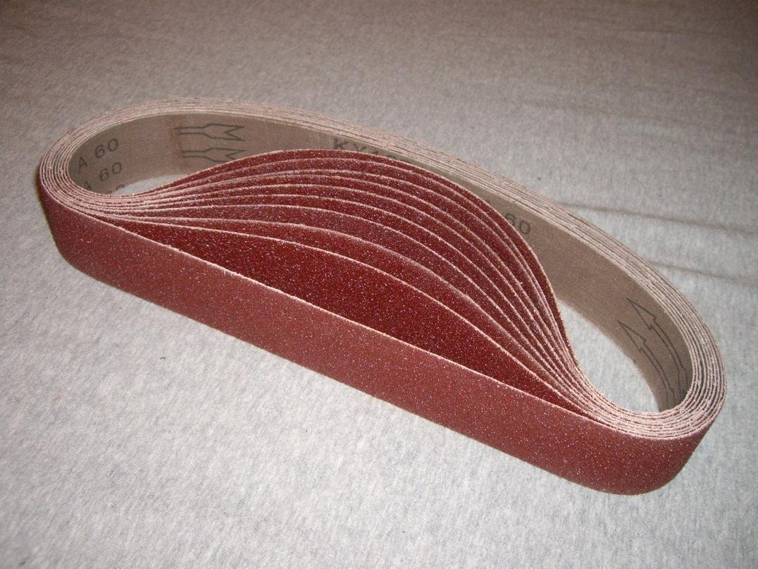 """1-1//2/"""" x 30/"""" Inch Aluminum Oxide Pipe and Tube Sanding Belts 120 Grit 10 PACK"""