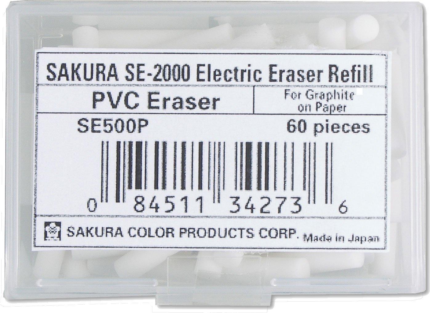Sakura Electric Eraser Refill 60/Pk, White Sakura of America SE500P