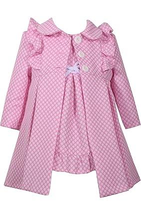 0c6f23f49088b Amazon.com: Bonnie Jean Baby Girls Coat and Dress Set: Clothing