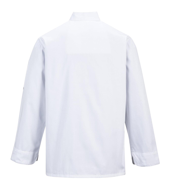 Portwest C734BKRXS Kent Chefs Jacket Black Regular X-Small