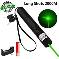 DFSSF USB Charging Green Light Pointer Torch, Demonstration Projector Pen, Handheld Flashlight for Camping Biking Hiking…