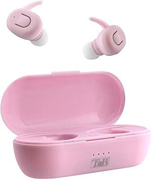 TnB EBDUDEPK - Auriculares True Wireless Bluetooth 5.0 con Caja de Carga, Color Rosa: Amazon.es: Electrónica