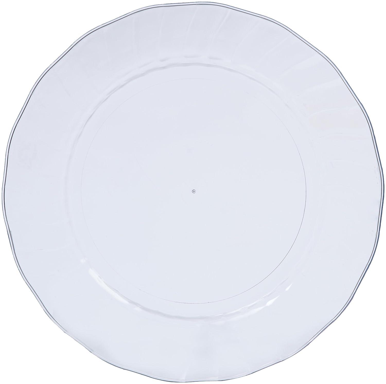100-Pack Basics Disposable Plastic Plates 7.5-inch