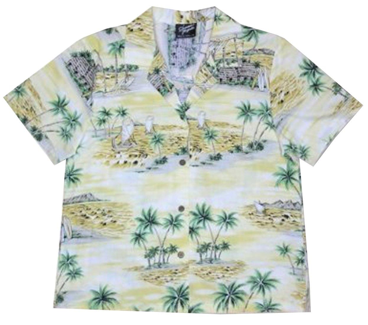 RJC Women Polynesian Island Camp Shirt in Yellow - XXL by RJC Women