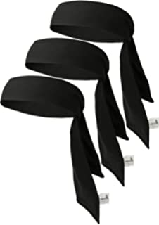 Head Tie Tennis Tie Hairband 3PCS & 6PCS Sweatbands Headbands Wristbands Head Wrap By VANCROWN