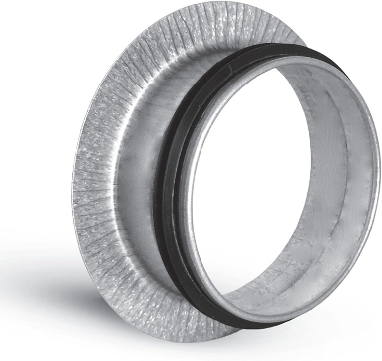 Anschlußflansch  160 mm  mit Lippendichtung verzinkt Wickelfalzrohr Bundkragen