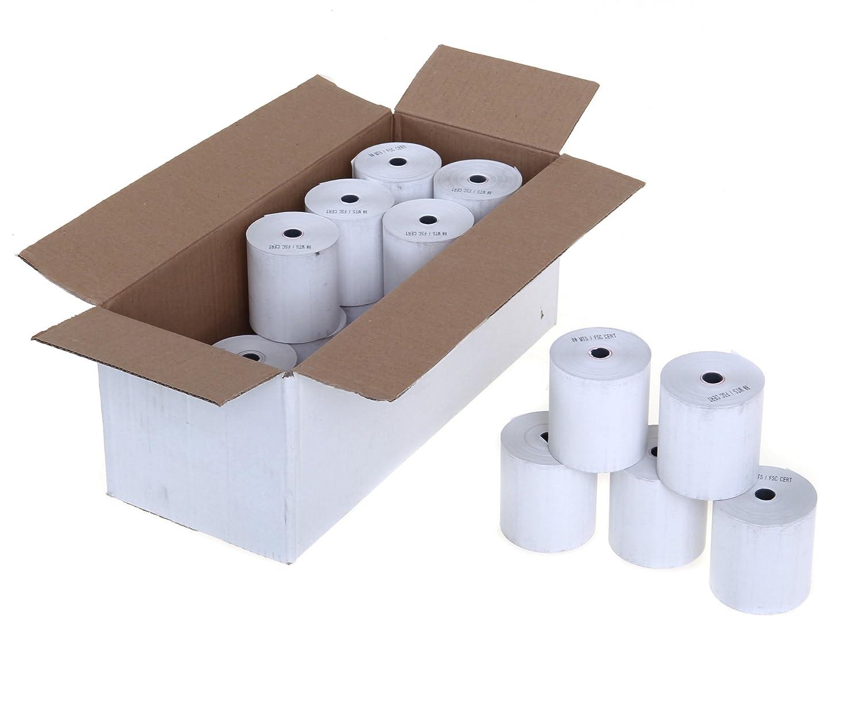 100 Rolls of 57x40mm Thermal Paper Credit Card Machine PDQ Till Rolls BEST PRICE