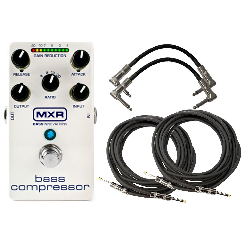 MXR M87 Bass Compressor Pedal Bundle w/4 FREE Cables by MXR