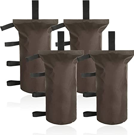 ESINGMILL Canopy Weight Bags for Pop up Tent Gazebo, 4pcs Leg Weights Sand Bags for Instant Outdoor Sun Shelter Canopy Legs, Heavy Duty Stability Sandbag Weighted Feet Bag