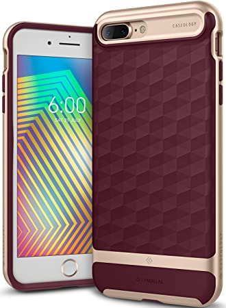 huge discount d42ad acb0f Caseology [Parallax Series] iPhone 8 Plus/iPhone 7 Plus Case - [Award  Winning Design] - Burgundy