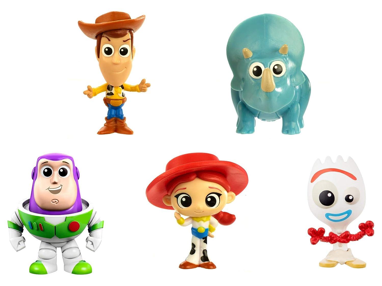 Disney Toy Story 4 Pack de 5 Mini Figuras de la Película, Juguetes Niños +3 Años (Mattel GDL64)