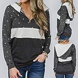 Women's Polka Dots Shirt Striped 3/4 Sleeve