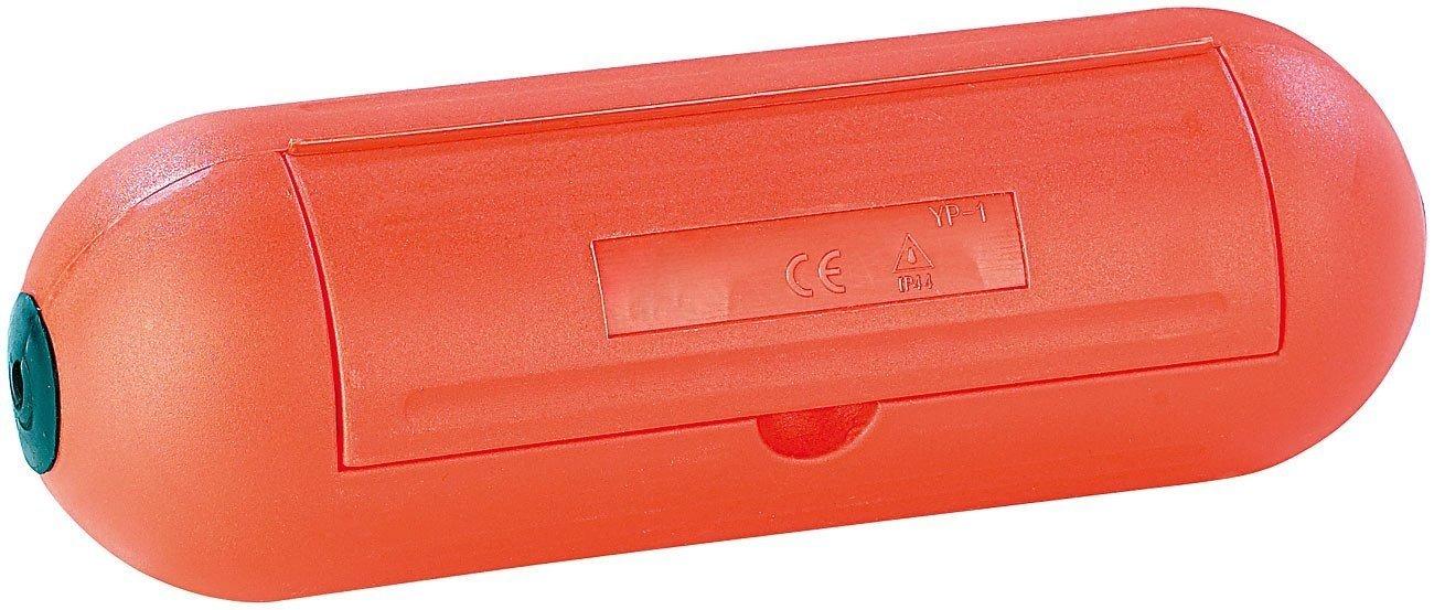 Electraline 360000000 Caja de protección para enchufes y Conexiones en jardín IP44, Naranja: Amazon.es: Bricolaje y herramientas