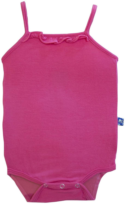 Baby KicKee Pants Little Girls Ruffle Tank One Piece Flamingo