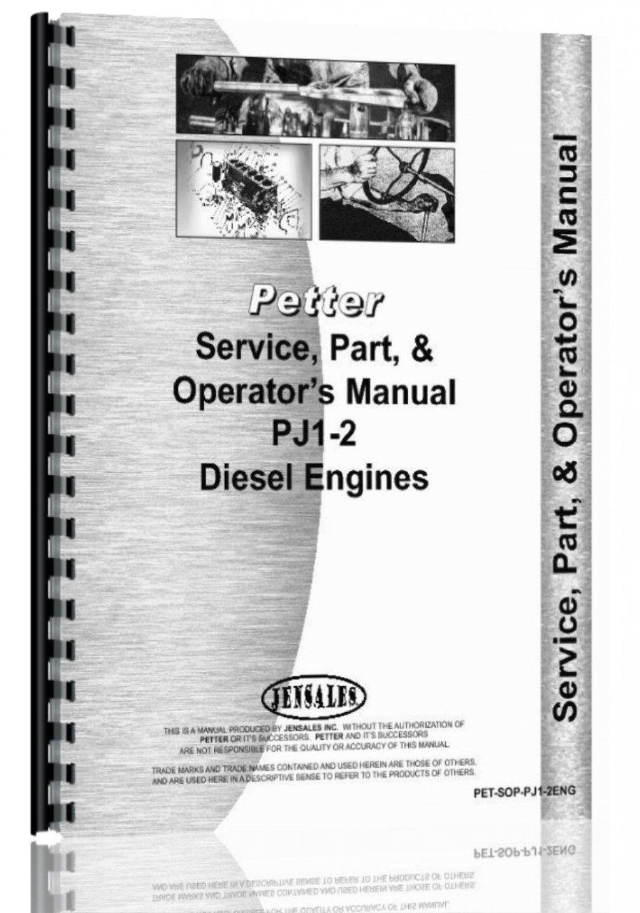 Read Online Petters PJ1-2 Engine Service Manual ebook