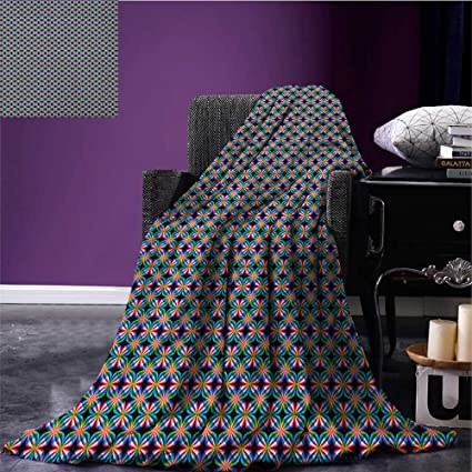 Amazon Abstract Patterned Blanket Psychedelic Influences In Simple Patterned Blanket