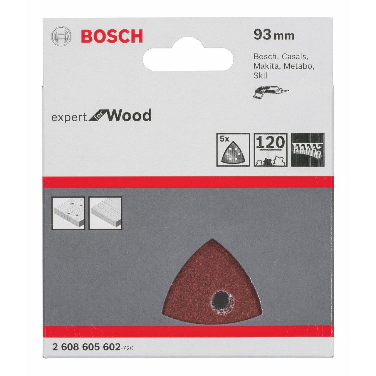 93 mm Set de 5 Piezas Rojo Bosch Home and Garden 2608605602 Hoja de Lija