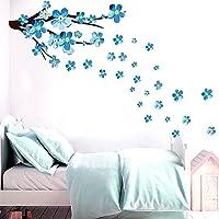 Bloemen muurstickers, aquarel tuin bloemen muurstickers, kinderkamer meisjes woonkamer slaapkamer romantische muur decor…