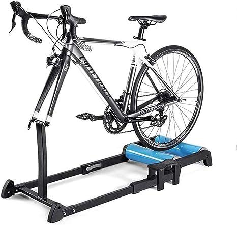 YYDE Bicicleta Trainer Soporte El Soporte Plegable de Bicicleta estática Soporte Montar Entrenamiento del Ejercicio del Rodillo Cubierta Ciclo Trainer ...