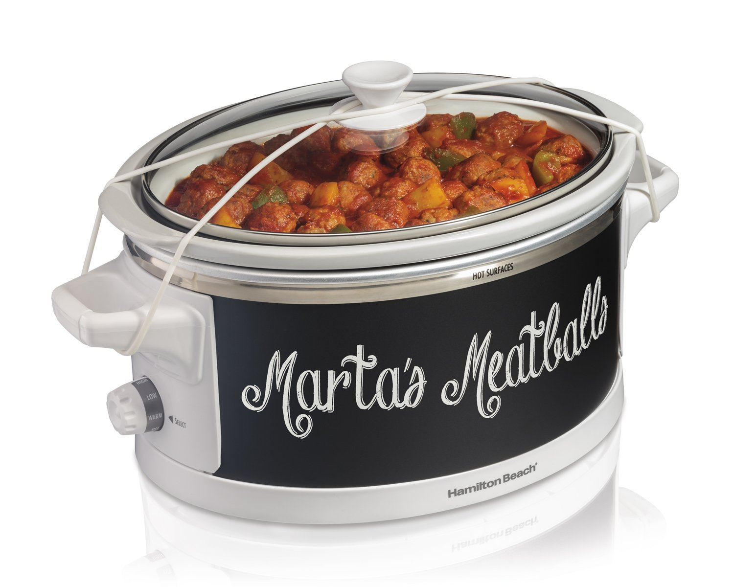 Hamilton Beach 33761 Wrap and Serve Slow Cooker, 6 Quart - White