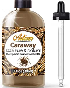 Artizen Caraway Essential Oil (100% Pure & Natural - UNDILUTED) Therapeutic Grade - Huge 1oz Bottle - Perfect for Aromatherapy, Relaxation, Skin Therapy & More!