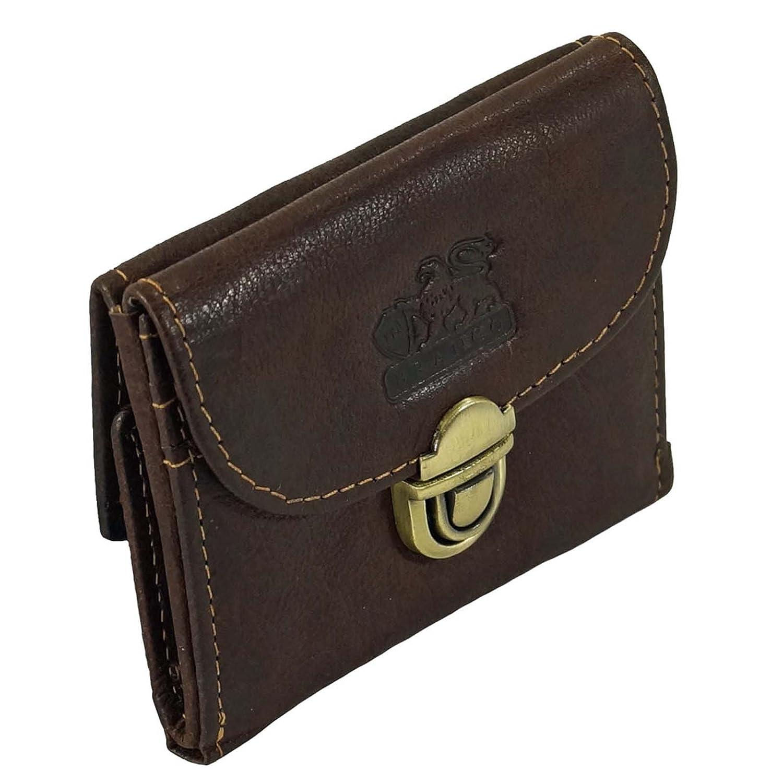 Leder Damen Reißverschluss Geldbörse Branco Geldbeutel Portemonnaie black