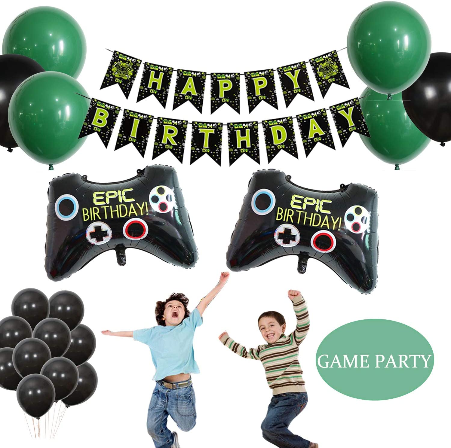Video Game Party Supplies Birthday Party Descoration Include Video Game Controller Balloons Birthday Banners for Boys Video Game Theme Party
