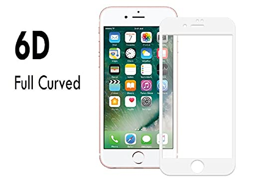 S Hardline 6D Tempered Glass for iPhone 7 Screen guards
