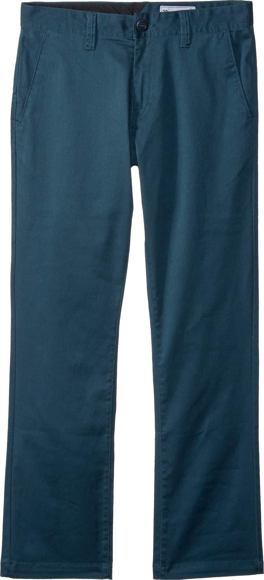 Volcom Boys' Big Frickin Modern Stretch Pant, Navy Green, 26
