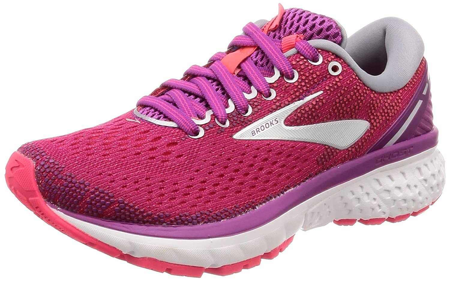 Aster Diva Pink Silver Brooks Women's Ghost 11 Running shoes